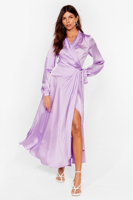Nasty Gal Womens Steal the Spotlight Satin Dress - Lilac