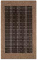Couristan Checkered Field Rug in Black/Cocoa