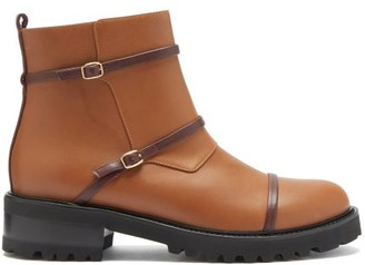 Malone Souliers Brodie Trek-sole Leather Boots - Tan Multi