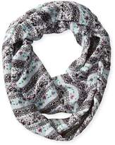 D&Y Women's Floral Mixed Media Loop Scarf