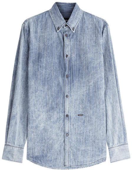DSQUARED2 Striped Denim Shirt