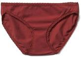 Gap Stretch cotton lace trim bikini