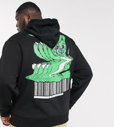 Collusion COLLUSION Plus hoodie with warped cartoon print
