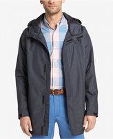 Izod Men's Lightweight Hooded Jersey Rain and Wind Slicker Jacket