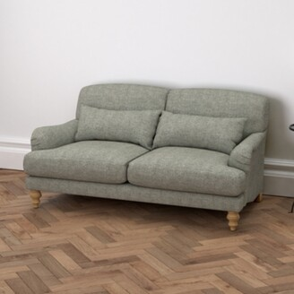 The White Company Petersham 2 Seater Sofa Tweed, Tweed Mid Grey, One Size