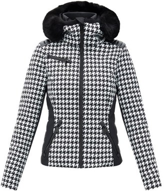 Goldbergh Kate Check Soft-shell Ski Jacket - Black White