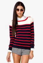 Forever 21 Colorblocked Epaulettes Sweater
