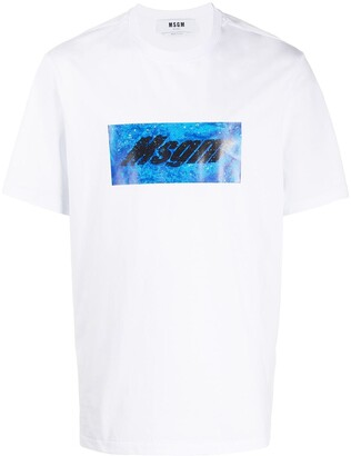 MSGM box logo-print cotton T-shirt