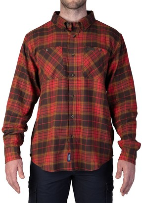 Smiths Workwear Men's Smith's Workwear Extended Tail Plaid Flannel Button-Down Shirt