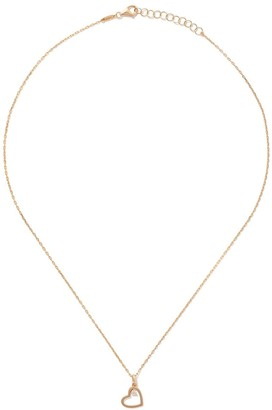 As 29 14kt yellow gold diamond Heart necklace