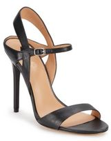 Halston Leather Ankle Strap Sandals