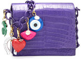 Nancy Gonzalez Gio Crocodile Charm Crossbody Bag, Purple