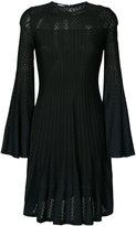 Oscar de la Renta long-sleeve flared dress - women - Silk/Viscose - L