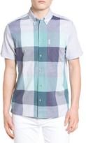 Ben Sherman Men's Modern Fit Plaid Front Woven Shirt