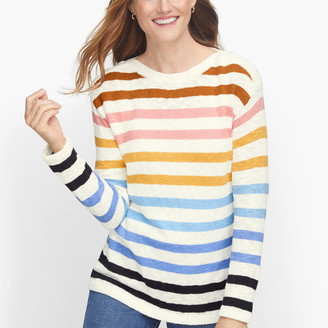 Talbots Slub Cotton Stripe Sweater