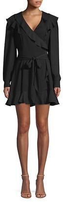 Parker Pauline Ruffled Wrap Mini Dress