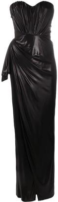 Elisabetta Franchi Draped Asymmetric Gown