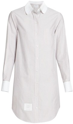 Thom Browne Unconstructed Striped Shirt Dress