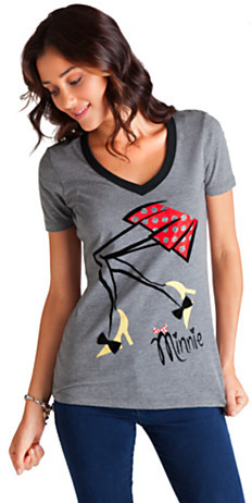 Disney Mademoiselle Minnie Ringer Tee for Women