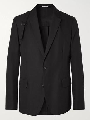 Alexander McQueen Harness-Detailed Cotton Blazer