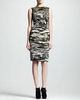 Lanvin Zebra-Jacquard Sheath Dress