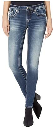 Miss Me Dreamcatcher Skinny Jeans in Dark Blue (Dark Blue) Women's Jeans