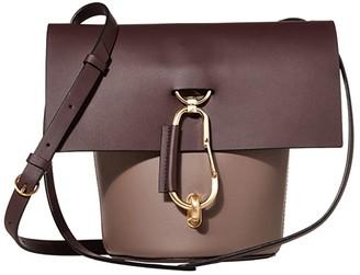 Zac Posen Belay Crossbody - Color Block (Eggplant) Cross Body Handbags