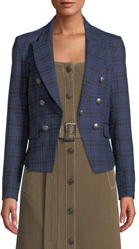 Veronica Beard Kenton Plaid Single-Button Jacket