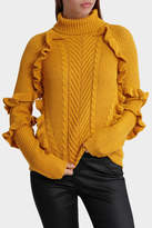Glamorous Frill Cable Jumper