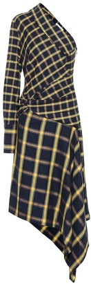 Monse Checked cotton midi dress