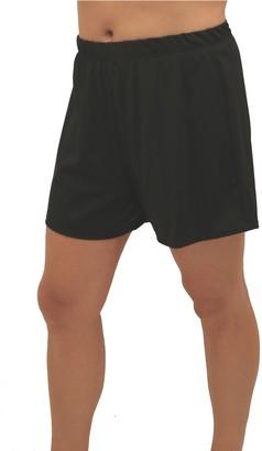Fit 4 U Fit 4 Ur Thighs Solid Swim Shorts - Plus