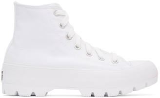 Converse White Chuck Taylor All Star Lugged High Sneakers
