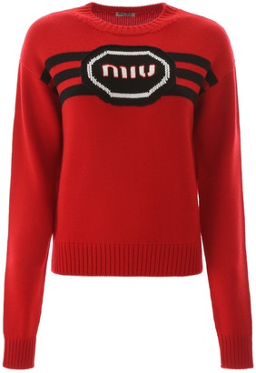 Miu Miu Logo Embroidery Sweater