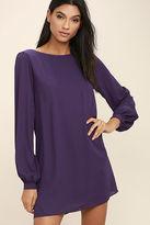 LuLu*s Status Update Purple Shift Dress