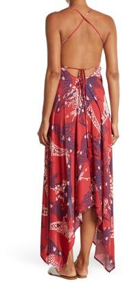 Love Stitch Giraffe Print Wrap Maxi Dress