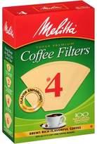Melitta Natural Brown #4 Coffee Filter - 100 ct