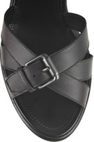 Bottega Veneta Woven leather wedge sandals