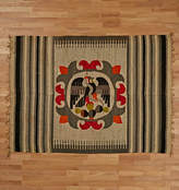 Rejuvenation Early Native Weaving w/ Flag of Mexico Medallion