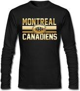 SLIAT Men's Montreal Canadiens Gold Logo Long Sleeves Tshirts