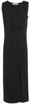 McQ Lace-up Draped Ponte Midi Dress