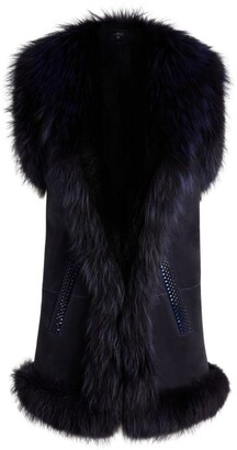 William Sharp Fox-Trim Fur Gilet