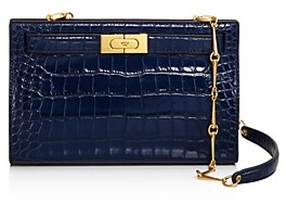 Tory Burch Lee Radziwill Embossed Leather Clutch - 100% Exclusive