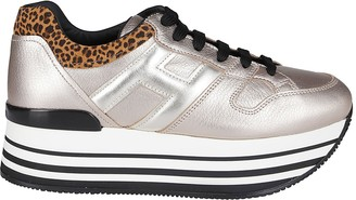 Hogan Beige Leather Maxi H222 Sneakers