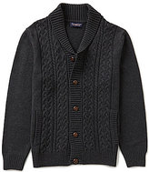 Roundtree & Yorke Big & Tall Shawl Cable Knit Cardigan