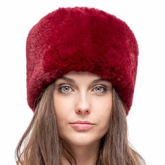 Futrzane Faux Fur Russian Hat for Women - Soft Velvet Fur - Comfy Cossack Style (M