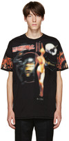Givenchy Black Distressed Printed T-Shirt
