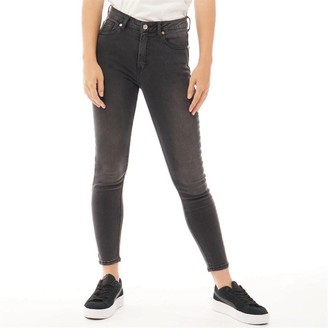 883 Police Womens Sophia High Waist Skinny Jeans Grey Wash