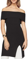 BCBGMAXAZRIA Kaori Off-the-Shoulder Tunic Top