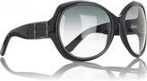 Oval framed sunglasses