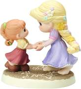 """Precious Moments 154012 Disney Showcase Collection, """"We Go Hand-In-Hand"""" Bisque Porcelain Figurine"""